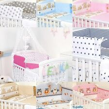 BEDDING SET COT &COT BED 3 PCS,4, 6,10, COT TIDY, DUVET,BUMPER CANOPY-100%COTTON