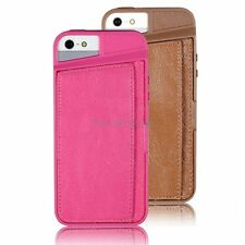Soft Silicone Gel Protective Skin Case Cover for iPhone 5 5S Brown / Rose
