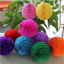 1XColorful Good Honeycomb Ball Paper Lanterns Wedding Birthday Party Decorations