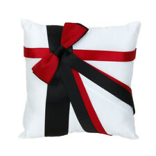 Wedding Ceremony Supplies Ring Pillow Bearer Cushion with Bowknot 20cmx20cm