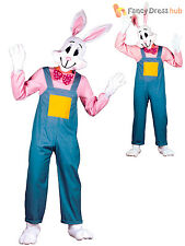 Adult Easter Bunny Country Rabbit Costume Mens Womens Unisex Bunny Fancy Dress