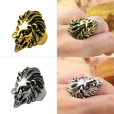 Lion's Head Ring Men's Vintage Cool Ring American Size 8-11 FE