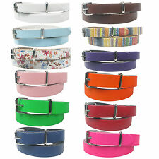 New Genuine Skinny Thin Fashion Waist Ladies Womens Leather Belt Made in the