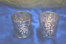 1-David Tutera Votive Holder With Fleur-de-lis Pattern~Either Silver or Gold