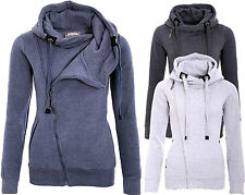 SUBLEVEL LADIES JACKET SWEATSHIRT SHIRT PULLOVER HOOD HIGH COLLAR HOOD SWEATER