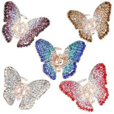 Ladies' Rhinestone Butterfly Spring Hair Claw Clip Clamp Small