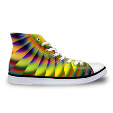 Colorful Womens Girls Lace-up High Top Shoes Sneakers Casual Canvas Sport Shoes
