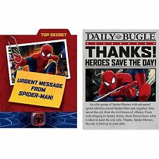 Marvel Ultimate SpiderMan Kid Hero Party Invitations & Thank You Cards - 8 pack