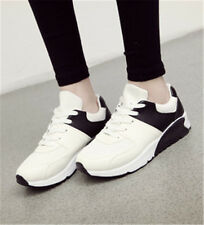 Women Lace Up Fashion Sneakers Athletic Wedge Casual Sport Walking Running Shoes