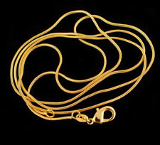 Snake HOT NEW Fashion Wholesale Lots 16-30 inch Gold Plated Chain Necklace