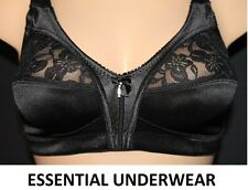 2X FIRM CONTROL SOFT SATIN CUP BRA UNPADDED NON WIRED FULL CUP COVERAGE, 34B-48E