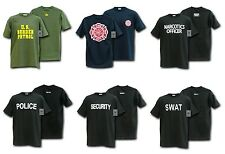 Tee Shirt Law Enforcement Military Security Police SWAT Fire & Rescue Rapdom J25