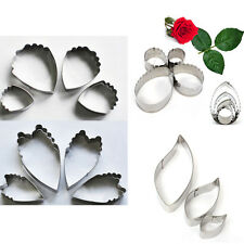 Stainless Steel Heart Peony Flower Biscuit Cake Cookie Cutters Baking Mould Mold