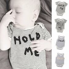 Newborn Kid Baby Boy Girl Infant Romper Jumpsuit Bodysuit Pajamas Clothes Outfit