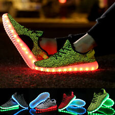 Fashion Unisex LED Light Lace Up Luminous Shoes Sneaker Men Women Casual Shoes