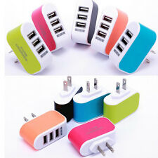 Fashion Triple USB Port Wall Home Travel AC Power Charger Adapter Hot Sale l