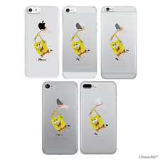 Case/Cover Apple iPhone 7 7 Plus 6 6s 5 5s 5c + Screen Protector / Gel Spongebob