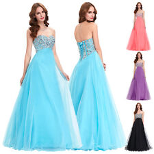 Beaded Long Wedding Bridesmaid Dress Evening Prom Party Formal Dresses Plus Size