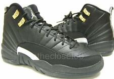 Nike Air Jordan 12 Retro Master BG GS Black White Gold Womens Boys 153265 013