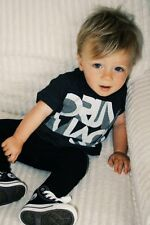 Baby Toddler Kids Boy Black Smart Casual Top+Pants Clothes Outfit Set Size 1-5