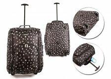 EZ WHEELED HAND LUGGAGE TROLLEY FLIGHT TRAVEL CABIN SUITCASE HOLD ALL BAGS