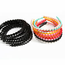 6pcs/lot Colorful Plastic Women Wave Headbands Hair Hoop Bands Hair Accessories