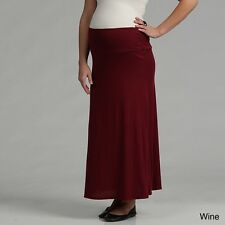 24/7 Comfort Apparel Women's Maternity Maxi Skirt. Free Shipping
