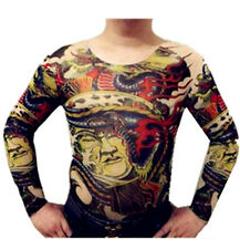 Tattoo Shirt Mesh Sleeves Temorary Arm Body Art  Sport T-Shirt ST-11