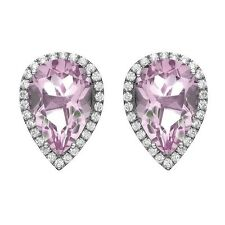 Isla Simone - Platinum Plate Silver Tear Drop CZ Earring. Free Shipping