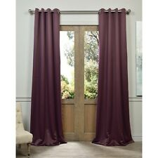 EFF Grommet Blackout Thermal Aubergine Curtain Panel Pair. Shipping Included