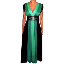 Funfash Women's Plus Size Green/ Black Colorblock Maxi Dress. Brand New