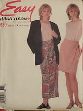 Easy VTG 95 McCALLS 7758 Misses Vest Shirt & Knit Pants PATTERN 4-14 UC