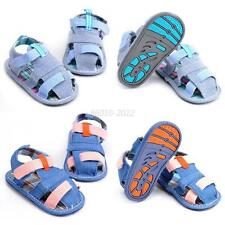 0-18Month Toddlers Baby Denim Jean Sandals Shoes Infants Soft Soled Crib Shoes