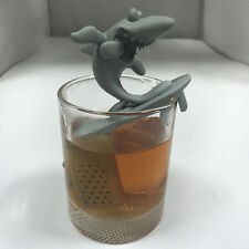 New Silicone Surfing Shark Infuser Loose Tea Leaf Strainer Herbal Spice Filter
