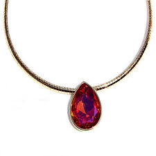 Large Astral Pink Teardrop Pendant  Necklace made with  SWAROVSKI® Crystals