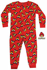 Angry Birds Red Onesie Boys/Girls Playsuit All in One Fleece 5 Years - 12 years