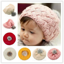 2016 Xmas Kid's Cute Baby Infant Toddler Winter Warm Knit Beanie Hat Cap New 19