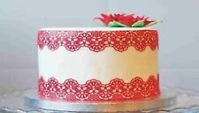 4PC EDIBLE 56 inches SUGAR LACES CAKE CUPCAKE BIRTHDAY ANNIVERSARY ENGAGEMENT