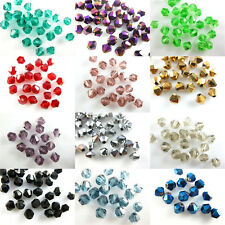 Wholesale Lots 8mm Faceted Bicone Crystal Glass Loose Bead Spacer Finding Charms