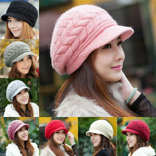 Fashion Womens Winter Warm Knitted Crochet Slouch Baggy Beanie Hat Cap New 136a