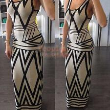 New Ladies Sexy Summer Casual Evening Party Maxi Dress Cocktail Long Beach Dress
