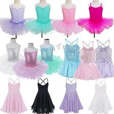 Girls Ballet Dance Dress Gymnastic Leotard Tutu Skirt Outfit Fairy Fancy Costume