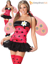 Ladies Leggy Ladybird Costume Adult Sexy Insect Fancy Dress Women Ladybug Outfit