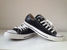 MensConverse All Star Ox Leather Black Trainers