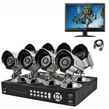 TUTIS HOME OFFICE 8 CHANNEL DVR CCTV SECURITY SYSTEM 4 OR 8 CAMERAS NIGHT VISION