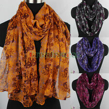 Women's Fashion Scarves Skull&Bones Print Ladies Casual Long/Infinity Scarf New
