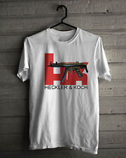 New! Heckler Koch MP5 Fire Arms Collection Basic White Tee Size S-5XL