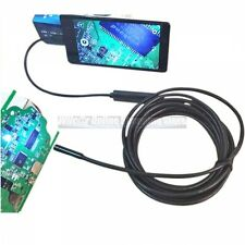 Video Endoscope Inspection Camera Android USB Borescope 5MM Spy Snake Waterproof