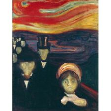 Edvard Munch - Anxiety 1894 Classic Art Vintage-Style Poster