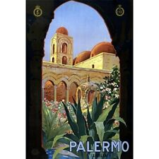 Palermo Sicilia Italy Travel Advertisement Vintage-Style Poster